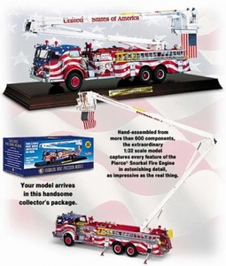 Pierce Snorkel Patriotic Fire Engine